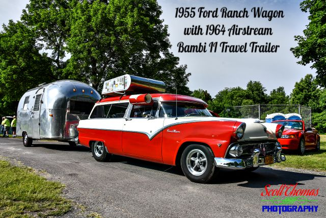 1955 Ford Ranch Wagon and 1964 Airstream Bambi II Travel Trailer