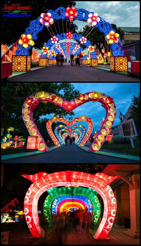 Arches of the New York State Chinese Lantern Festival