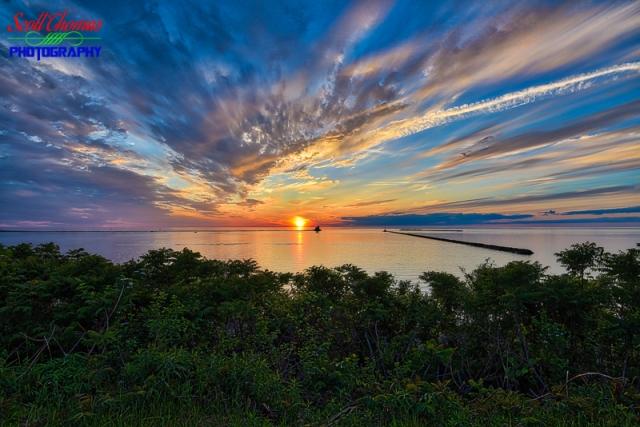 Oswego Harbor Sunset