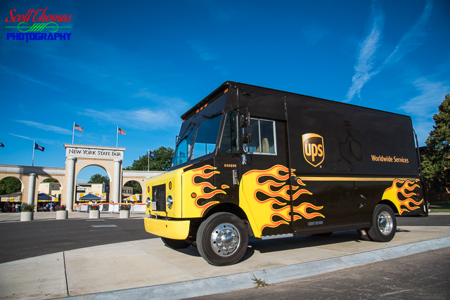 UPS Flamed Truck