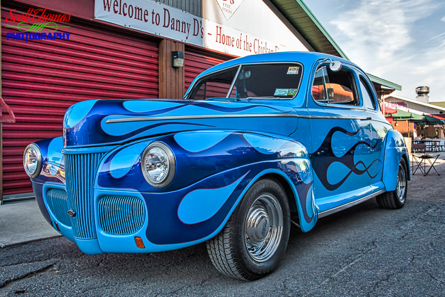Blue Flame Ford Hot Rod