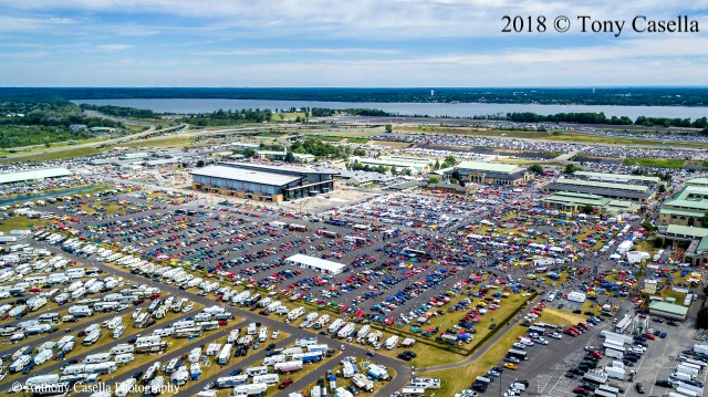 Aerial View of the 2018 Syracuse Nationals