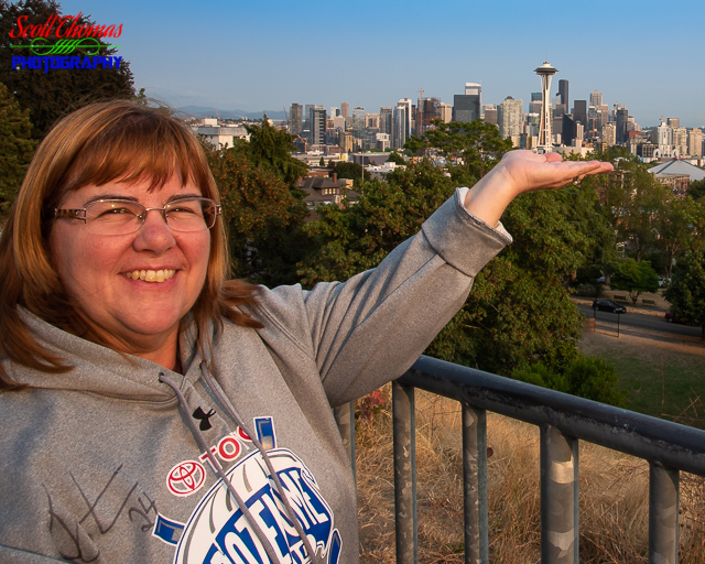 Holding up the Space Needle