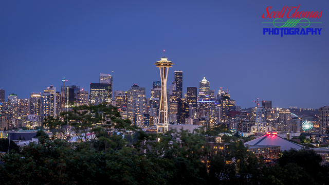 Cityscape of Seattle, Washington from Kerry Park