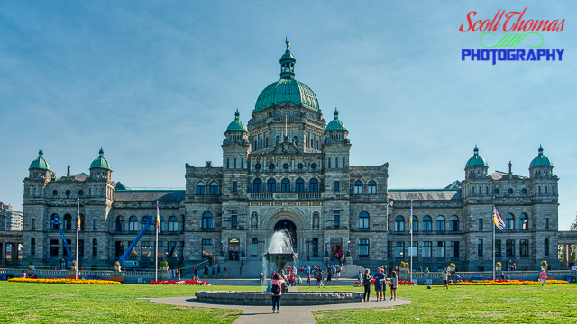 Parliament building in Victoria, British Columbia, Canada.