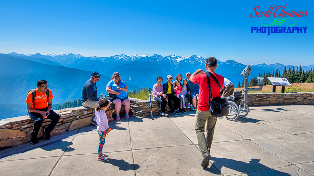 Hurricane Ridge Visitor Center Overlook