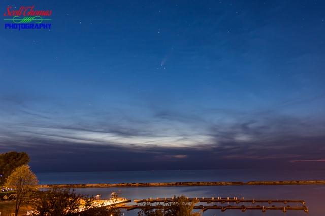 Comet Neowise over Oswego Harbor 1
