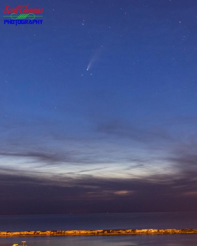 Comet Neowise over Oswego Harbor 2