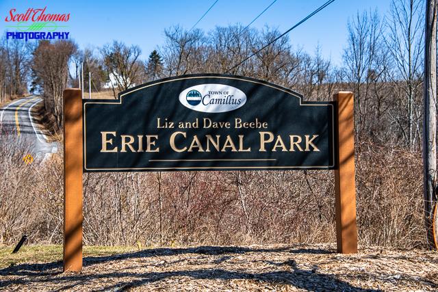 Erie Canal Park Entrance Sign